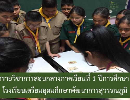 เนื้อหารายวิชาการสอบกลางภาคเรียนที่ 1 ปีการศึกษา 2563